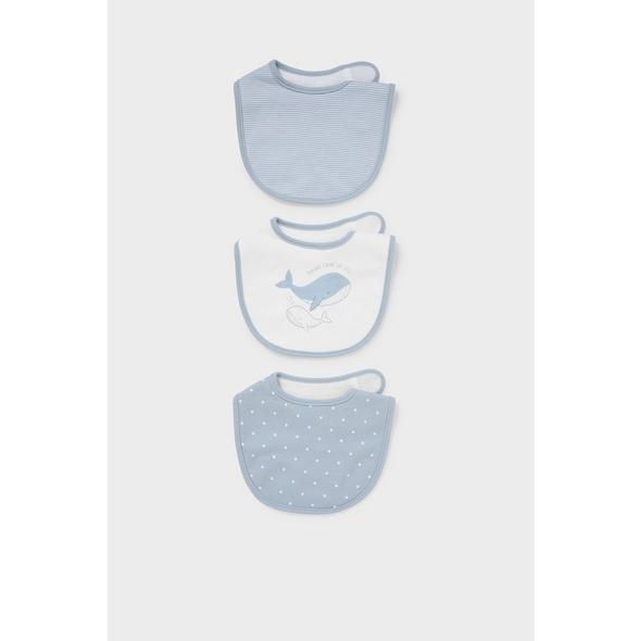 Multipack 3er - Baby-Lätzchen - Bio-Baumwolle