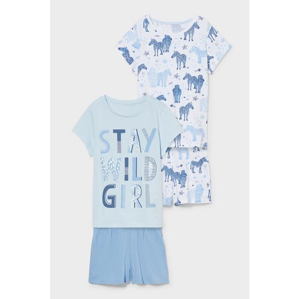 Multipack 2er - Shorty Pyjama - Bio-Baumwolle