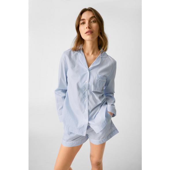 Pyjama-Oberteil - gestreift