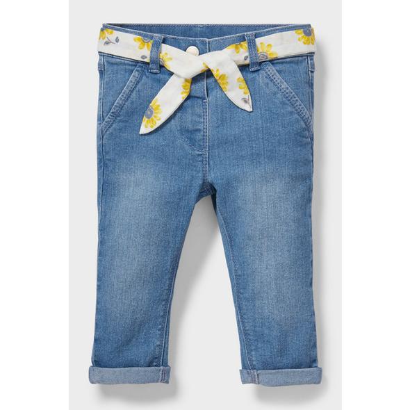 Baby-Jeans mit Gürtel