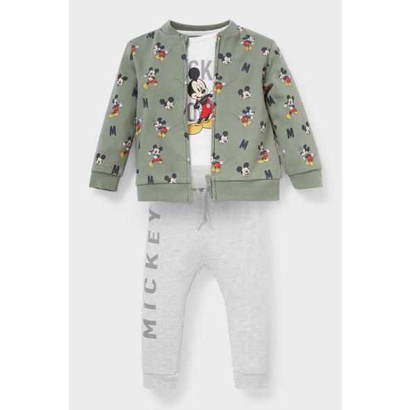 Micky Maus - Baby-Outfit - Bio-Baumwolle - 3 teilig