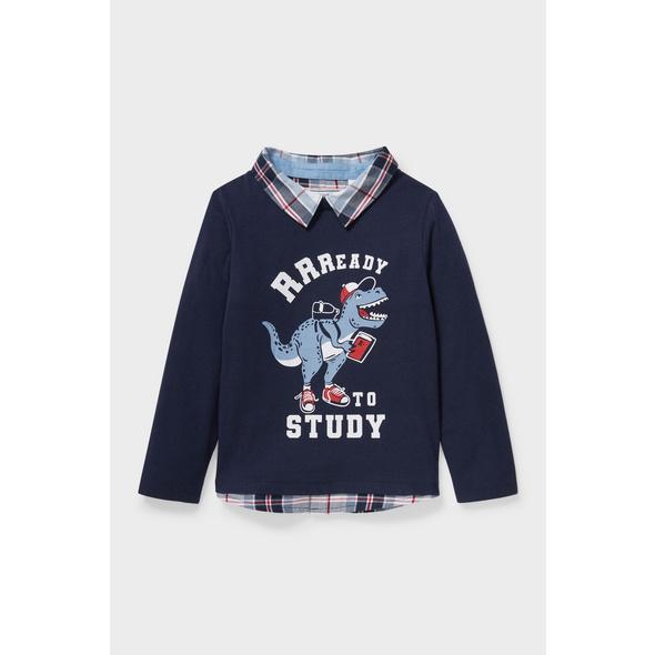 Dino - Langarmshirt - 2-in-1-Look