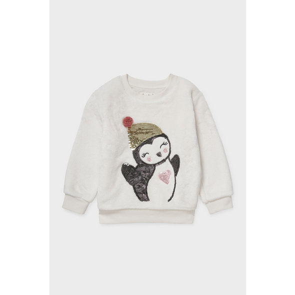 Fleece-Sweatshirt - Glanz-Effekt