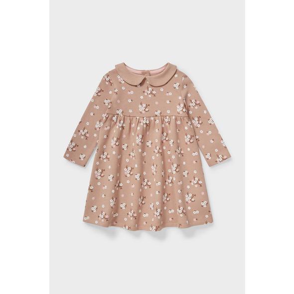 Baby-Kleid - Bio-Baumwolle - geblümt