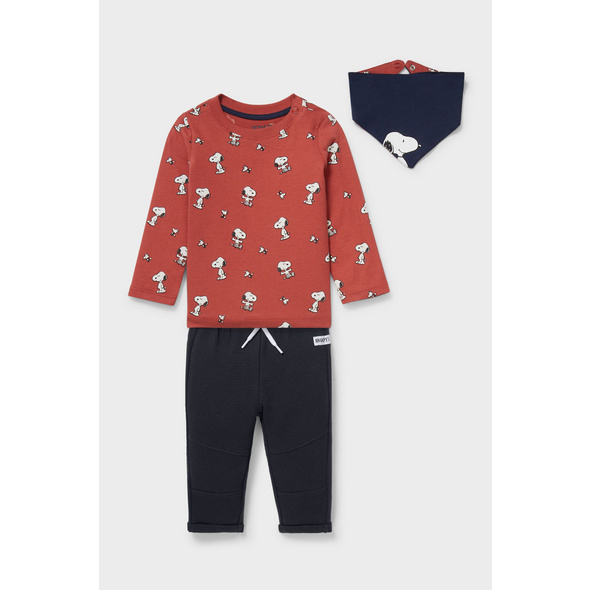 Snoopy - Baby-Outfit - 3 teilig