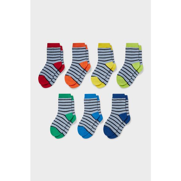 Multipack 7er - Socken - gestreift