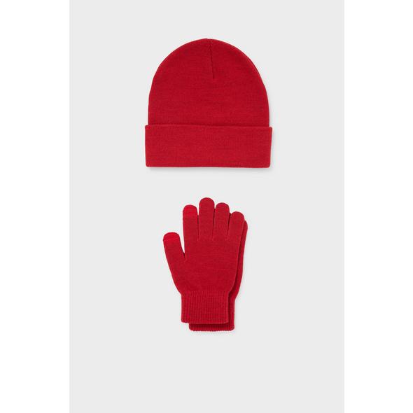 CLOCKHOUSE - Set - Mütze und Touchscreen-Handschuhe